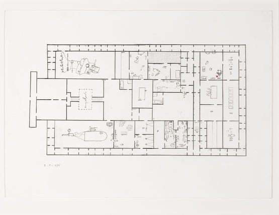 Provisional floor plan 'Self-portrait as a building'