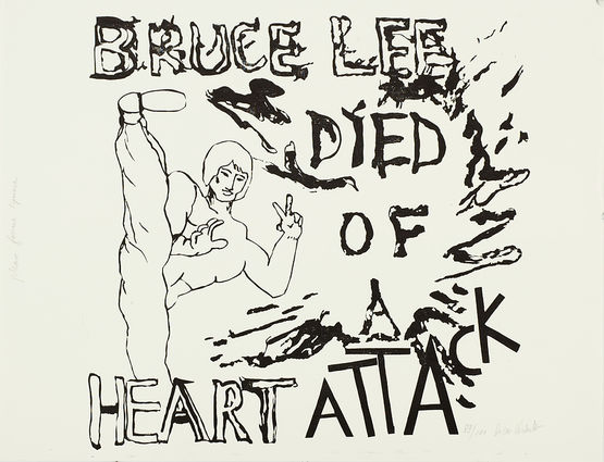 Bruce Lee died of a heart attack
