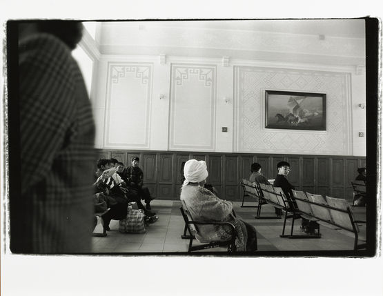In the train-station of Kyzylorda city