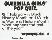 Guerrilla Girls' Pop Quiz