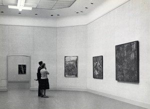 Installation View Kompas I (1961) with work by Jean Dubuffet