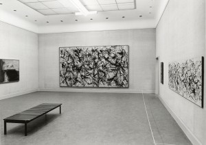 Installation View Kompas III with Jackson Pollock and Willem de Kooning, 1967