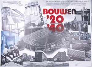 Exhibition poster Bouwen '20-'40 (Building '20 - '40), 1971