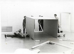 Instalment Donald Judd exhibition, 1970. Photo: v.d. Bichelaer