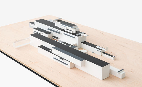 3D interpretation after 'Modern Buildings' by Kazimir Malevich