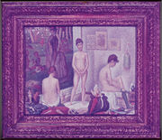 Seurat's 'Les Poseuses' (small version) 1888 - 1975