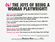 Oh! The joys of being a woman playwright!