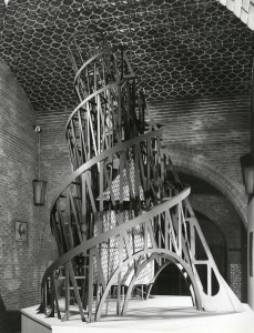 Installation view solo exhibition Tatlin with reconstruction 'Monument for thr 3rd Internationale', 1969