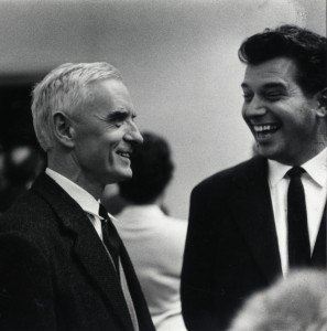 Jean Bazaine and Edy de Wilde (right) during the opening of solo exhibition 1958. Photo: Martien Coppens