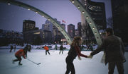 Nathan Phillips Square, A Winter's Night, Skating